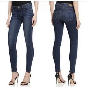 Paige Peg Skinny Blue Jeans
